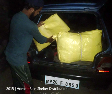 Rain Shelter Distribution
