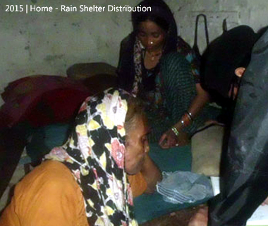Rain Shelter Distribution